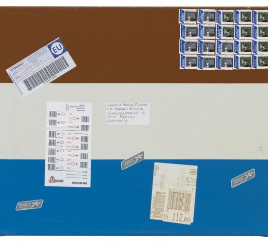 2004_deBloeme_Malerei2001-2010_PostbildFlagge(GalerieMarkusRichter)
